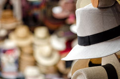 Panama hats. In Cuenca, Ecuador royalty free stock photos