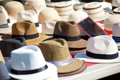 Panama hats Royalty Free Stock Photos