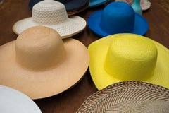 Panama hats in Ecuador Royalty Free Stock Photo