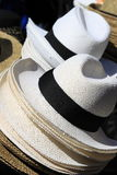 Panama hats Stock Photo