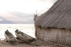 Panama house on san blas island Stock Photo