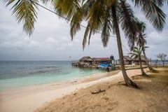 Panama house on san blas island Stock Image
