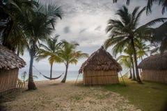Panama house on san blas island Royalty Free Stock Photo