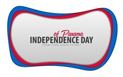 Panama. Independence day greeting card. Paper cut style. Panama. Independence day greeting card. Paper cut style stock illustration