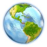 Panama on isolated globe Royalty Free Stock Images