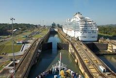 Panama kanal Arkivbild