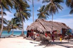 Panama kuna indian house on island