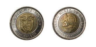 Panama-Münzen Lizenzfreies Stockfoto
