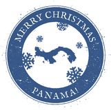 Panama map. Vintage Merry Christmas Panama Stamp. Stylised rubber stamp with county map and Merry Christmas text, vector illustration Stock Images