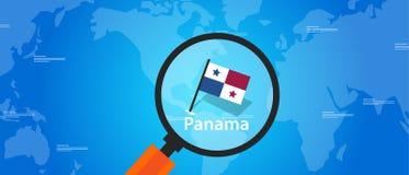Panama map world location flag Stock Image