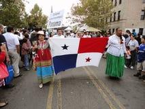 Panama-Markierungsfahne an der Parade lizenzfreies stockbild