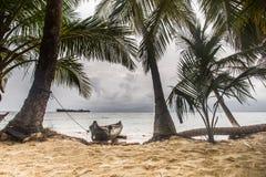 Panama native boat San Blas islands Stock Photos