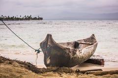 Panama native boat San Blas islands Stock Photography