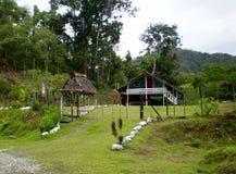 Panama och Costa Rica serie, bosatta villkor, trähus Royaltyfria Bilder