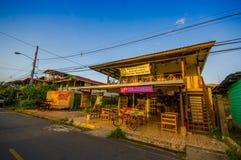 PANAMA PANAMA - APRIL 16, 2015: Gatasikt av Royaltyfri Fotografi