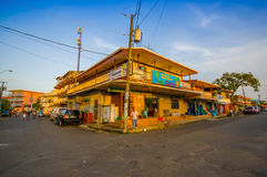 PANAMA PANAMA - APRIL 16, 2015: Gatasikt av Royaltyfri Foto