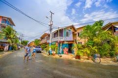 PANAMA PANAMA - APRIL 16, 2015: Gatasikt av Fotografering för Bildbyråer