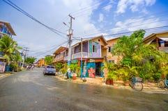 PANAMA PANAMA - APRIL 16, 2015: Gatasikt av Arkivfoton