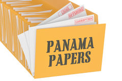 Panama Papers concept, 3D rendering Stock Photo