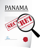 Panama papers. Panama document under investigation concept Stock Photography