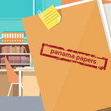 Panama Papers Folder Secret Document Offshore Company Stock Images