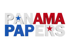Panama Papers Isolated Royalty Free Stock Image