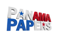 Panama Papers Isolated Royalty Free Stock Photography