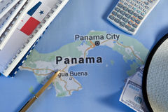 Panama papers. Leaked document money laundering crime Stock Images