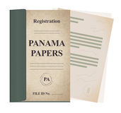 Panama papers registration file - illustration Stock Images