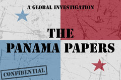 The Panama Papers text Stock Photo