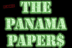 The Panama Papers text Stock Image