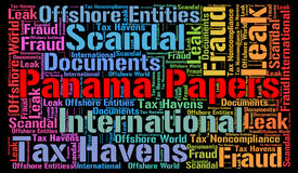 Panama papers word cloud. Concept Stock Photography
