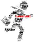 Panama papers word cloud. Concept Royalty Free Stock Photography