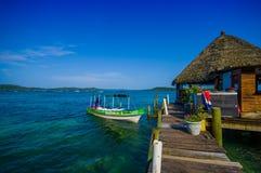 Panama pier Stock Photo