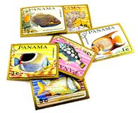 Panama post stamps Stock Photo