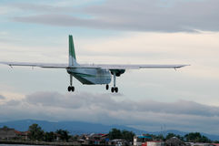 Panama propeller plane over san blas islands royalty free stock images