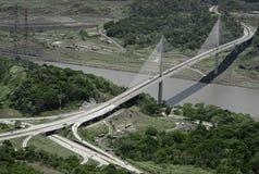 Panama's Centennial Bridge. Puente Centenario, Panama's Centennial Bridge royalty free stock image