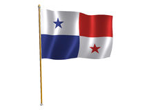 Panama silk flag Royalty Free Stock Photo
