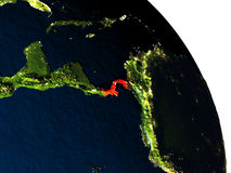Panama from space Stock Image