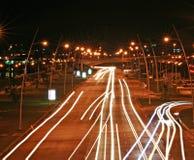 Panama-stad bij nacht Royalty-vrije Stock Foto's