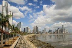 Panama-Stadt Skyline, Panama-Stadt, Panama Lizenzfreie Stockfotos