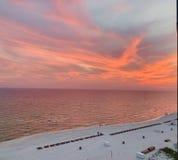 Panama-Stadt Strandsonnenuntergang lizenzfreie stockbilder