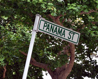 Panama Street. Street sign taken in new zealand Royalty Free Stock Photo