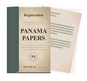 Panama tapetuje rejestracyjną kartotekę - ilustracja ilustracja wektor
