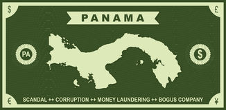 Panama tapetuje skandal 2016 grafikę ilustracja wektor