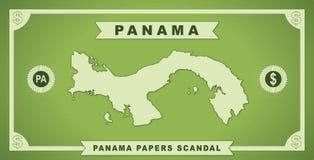 Panama tapetuje skandal 2016 grafikę ilustracji