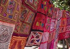 Panama Textiles. Handmade textiles at a Panama City market Stock Photos