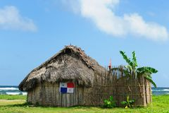 Panama, traditional house of residents of the San Blas archipelago Stock Images
