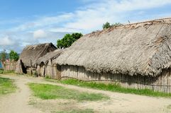 Panama, traditional house of residents of the San Blas archipelago Royalty Free Stock Image