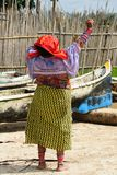 Panama, traditional Kuna people Stock Photos